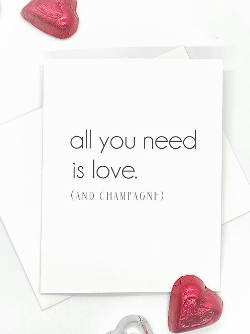 all you need is love folded (set of 2)
