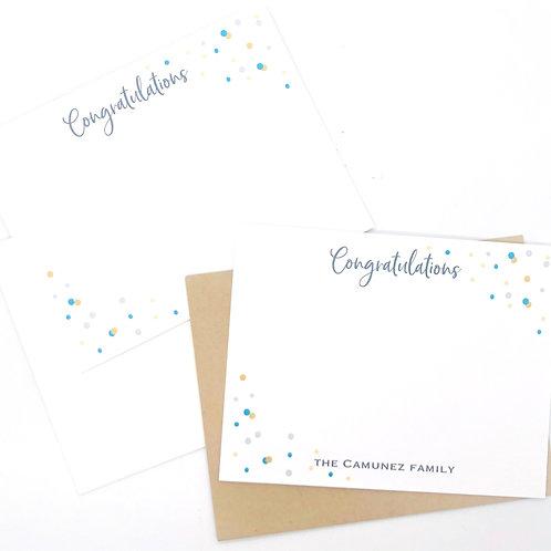 congratulations confetti teal