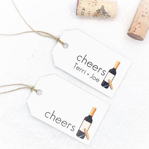 cheers wine bottle