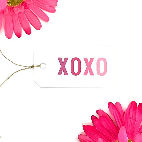 xo pink ombre (set of 12 tags)