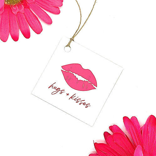 hugs + kisses (set of 12 tags)