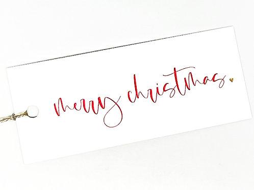 merry christmas script gold heart