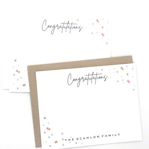 congratulations confetti pink