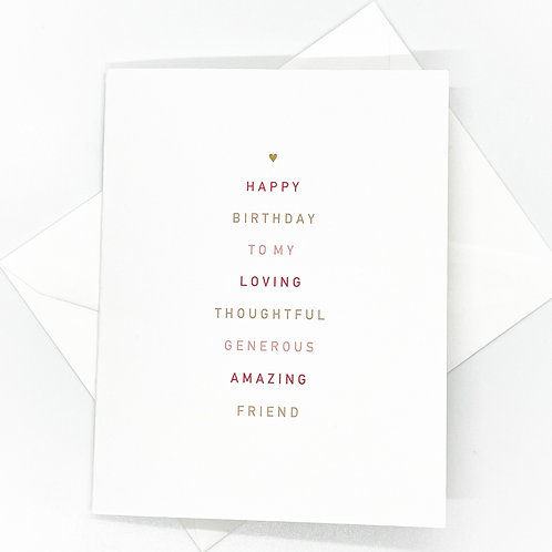 birthday wishes folded (set of 2)
