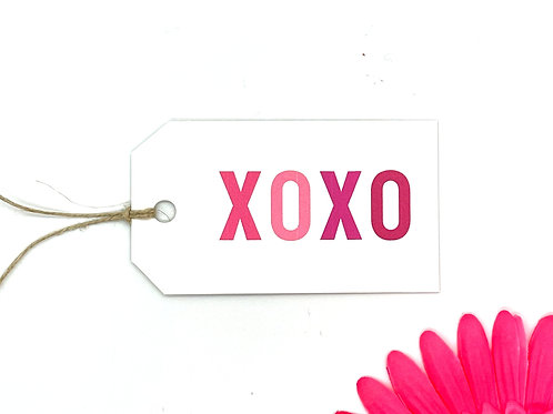xoxo pink ombre