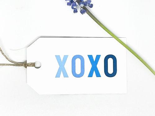 xoxo blue ombre