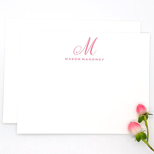 calligraphy initial + name top