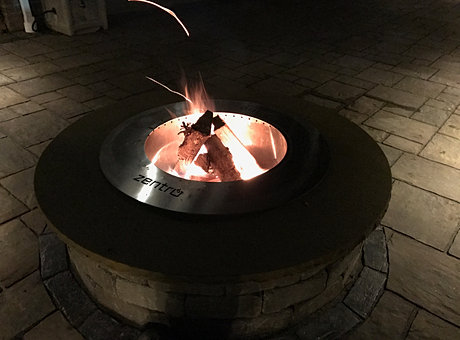 zentro stainless steel smokeless fire pit insert