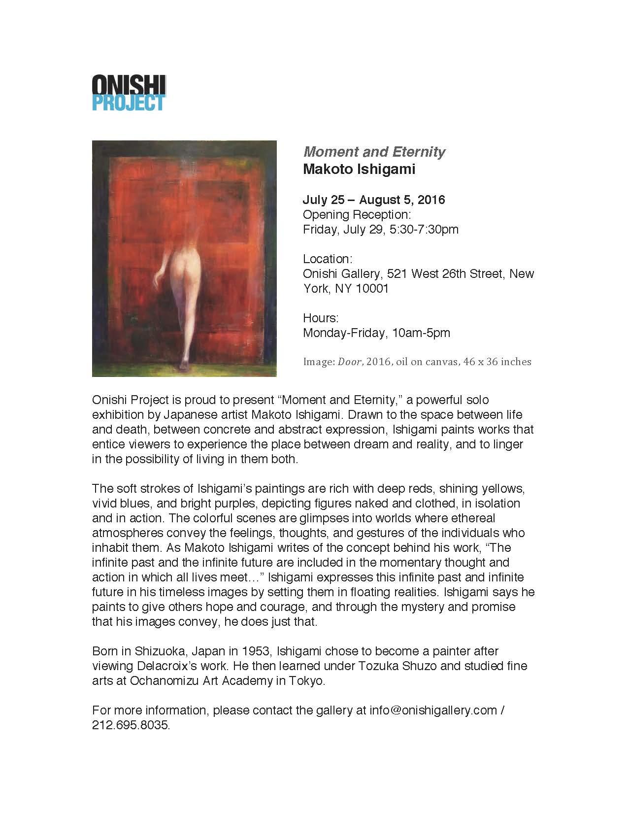 Makoto Ishigami Exhibition in NY