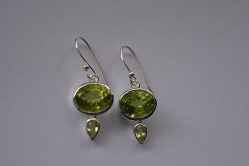 Peridot Sterling Silver drop Earrings