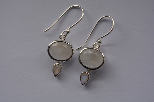 Moonstone Sterling Silver drop Earrings