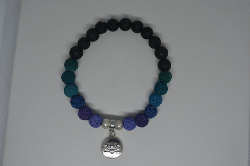 Deep Blue Sea Tone Lava Beads
