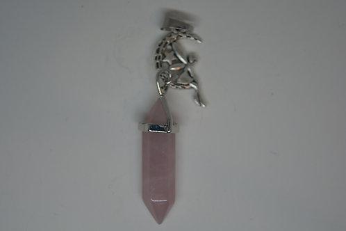 Fairy on a Rose Quartz