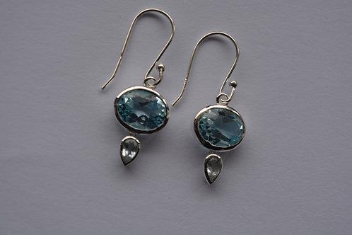 Topaz Sterling Silver drop Earrings