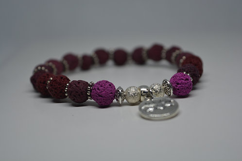 Violet Bloom Tone Lava Beads