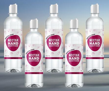 1L Liquid Hand Sanitiser Refill - 5 Pack