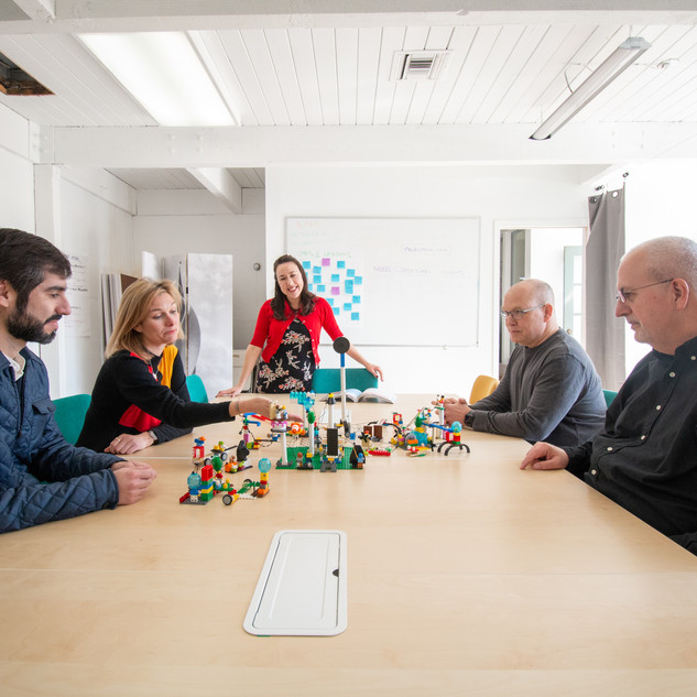 LEGO Serious Play Organizational Workshop Training Mary Poffenroth in Action