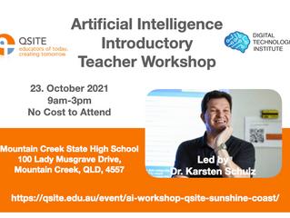 Artificial Intelligence Teacher Workshop Sunshine Coast, Oct 23
