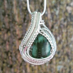 #sterling #silver #wirewrapped #pendant #emerald #supafresh #supaclean #classy #sterlingsilver #wire