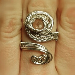 Lemme kno what y'all thinks of this #swirly lil number! Beautifully #faceted #rosequartz #sterling #