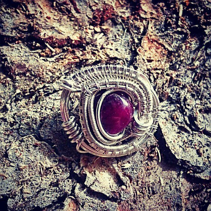 #sterlingsilver #wirewrapped #hatpin #ruby #wirewrap #wirewrappedhatpin #wirewrappedaccessories #wir