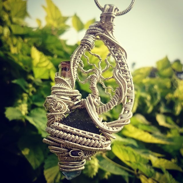 #supafresh #supaclean #heady #wirewrapped #treeoflife #pendant #sterlingsilver #wirewrap 5