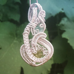 #discount price for #recycled #sterling #silver #wirewrapped #pendant #blue #flourite n #peridot #st