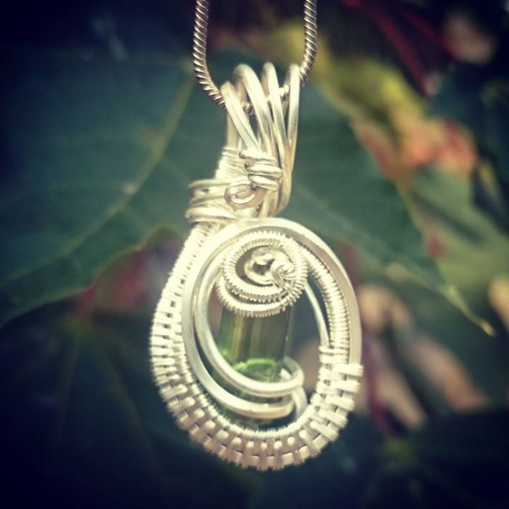 #beautiful lil #greentourmaline #wirewrapped #pendant #sterling #silver #wirewrap #wireart #wirewrap