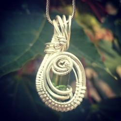 #beautiful lil #greentourmaline #wirewrapped #pendant #sterling #silver #wirewrap #wireart #wirewrap