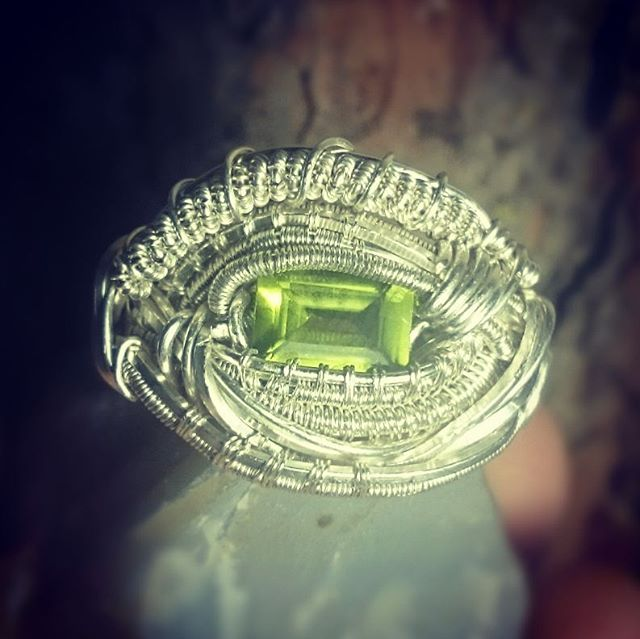 Custom Peridot Ring