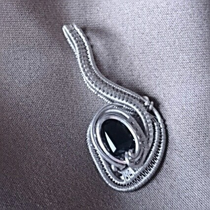 #sterlingsilver #wirewrappedpendant #sterling #silver #beautiful #faceted #smokeyquartz #wirewrap #w