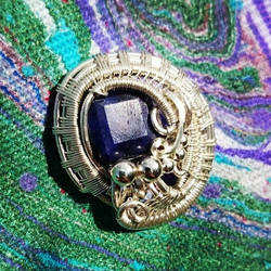 #hatpins! #sterling #silver #wirewrapped #sapphire #hatpin #sterlingsilver #wirewrap #wireart #wirea