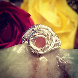 Beautifully faceted #rosequartz #sterling #silver size 8