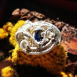 #classy n #supaclean #supafresh #sterling #silver #wirewrapped #ring size 7, #faceted #sapphire #ste