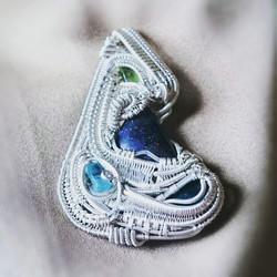#sterlingsilver #wirewrappedpendant #sterling #silver #beautiful 9