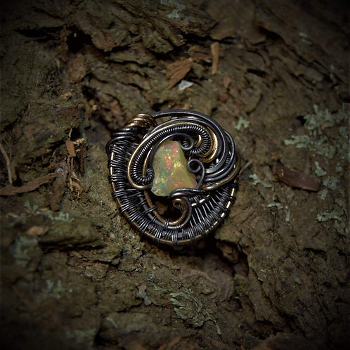 Opal hatpin