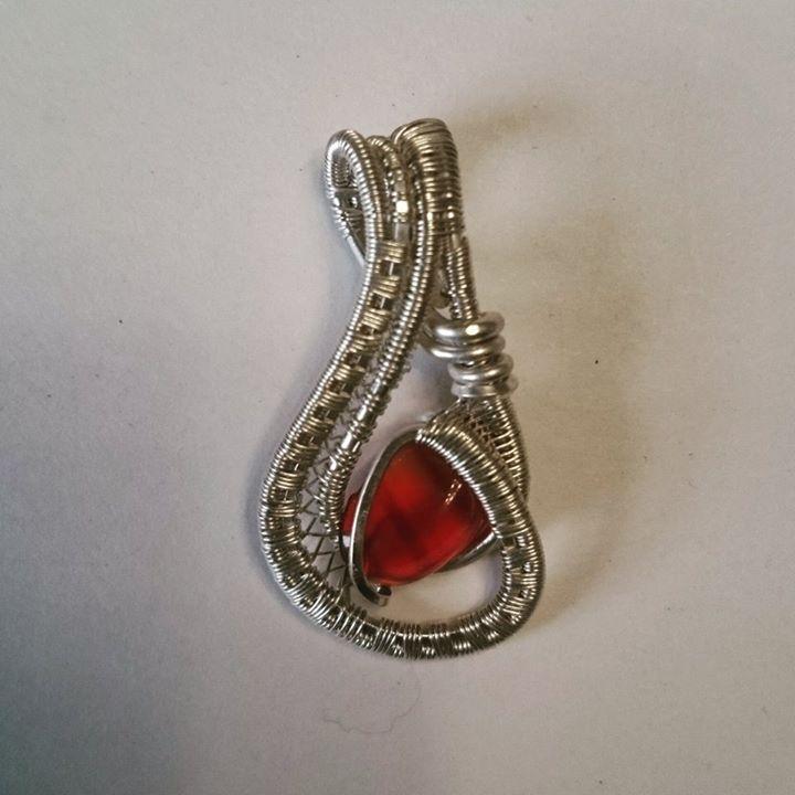 #sterling #silver #wirewrapped #minipendant #carnelian #negativespace #sterlingsilver #pendant #wire
