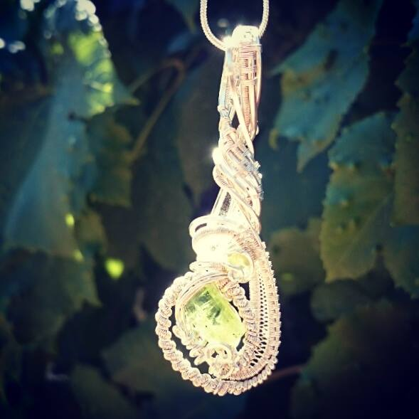 #sterling #silver #wirewrapped #pendant #peridot X2 #lumerian #supafresh #supaclean #classy #sterlin
