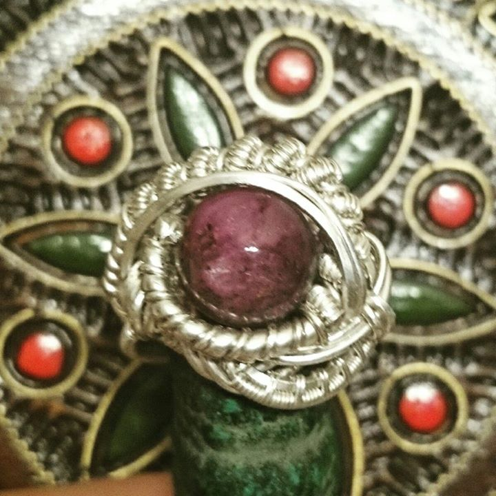 #heady #sterling #silver size 8 #wirewrapped #ring #starruby #wirewrap #wireart #jewelry #finejewelr