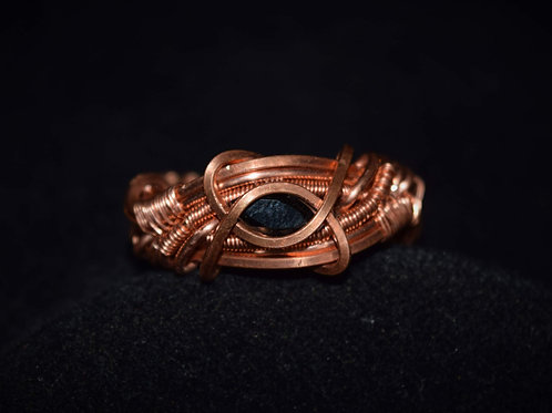 Smokey in Copper Ring