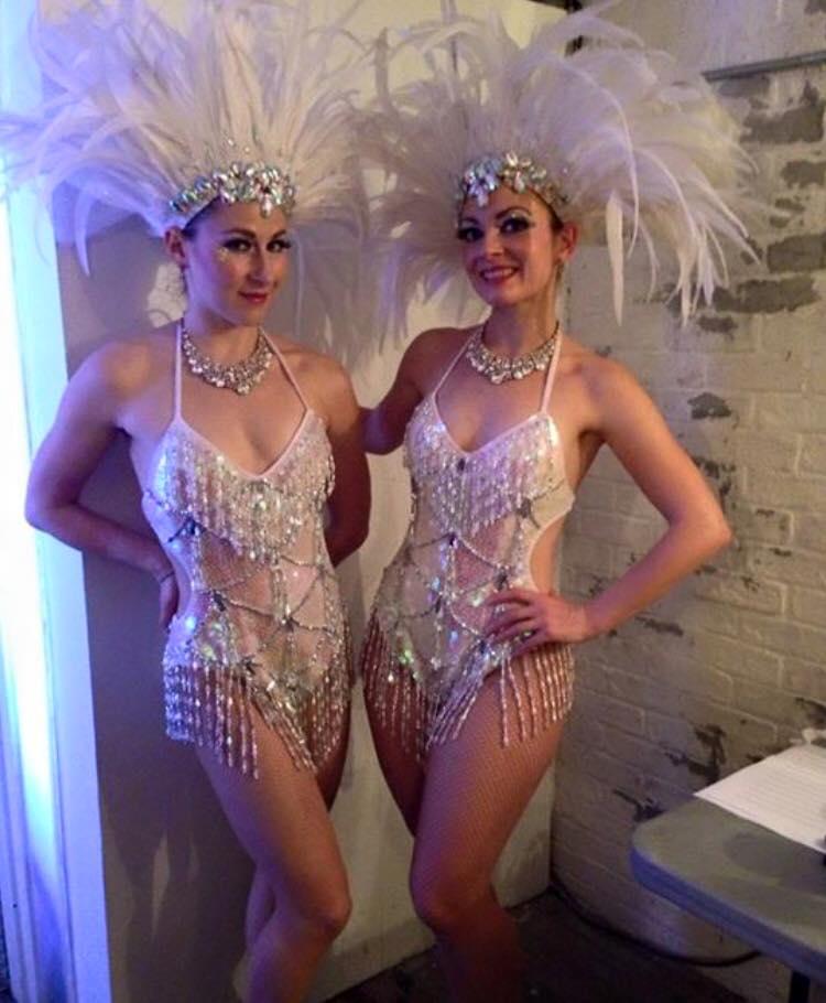 White Sparkle Showgirl