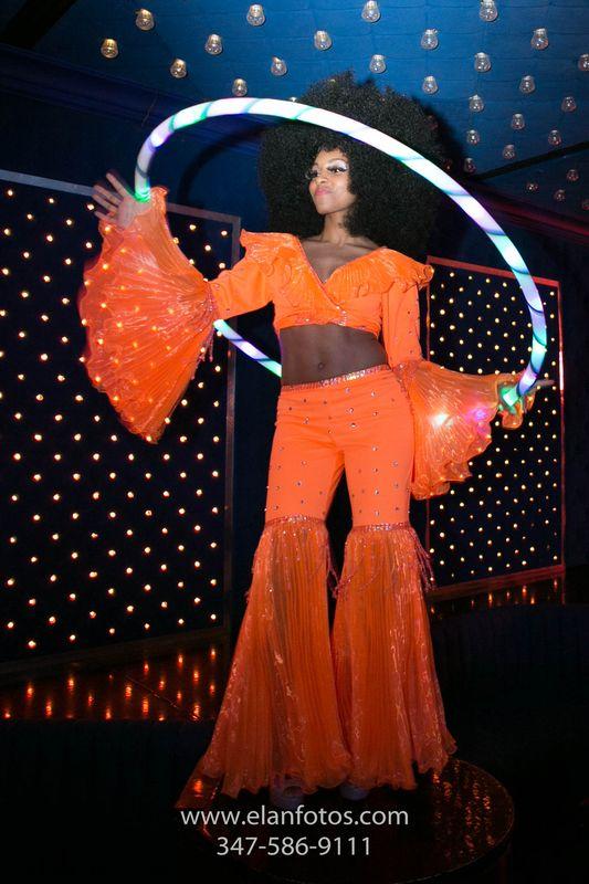 Disco hula hoop