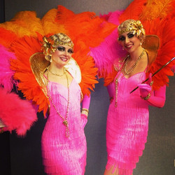 Pink Feather Gatsby