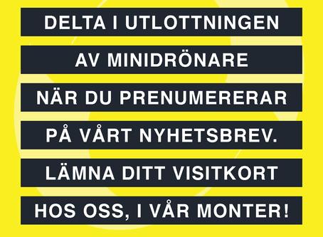 """Sista chansen 29/1 Ytskyddsdagarna. Lyssna till """"Drönare som inspektionsverktyg"""" Stora scenen kl 9"""