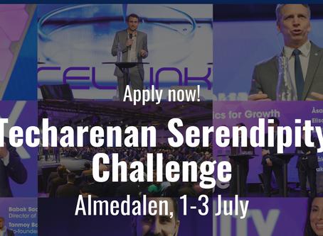 Nominerade till Techarenan Serendipity Challenge för Nordens främsta startup- och tillväxtbolag