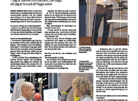 Drönarpiloten Gustav i Underhåll och Driftsäkerhets artikel