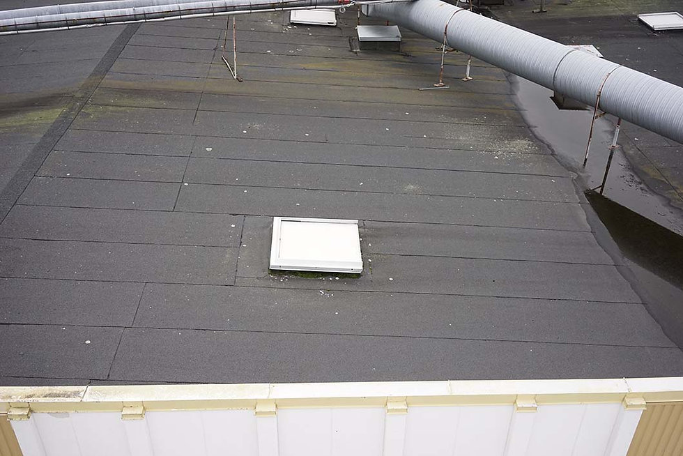 Drone Inspection Exempel foto tak vinkel