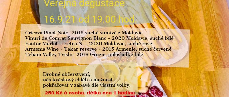 Veřejná degustace 16.9.2021