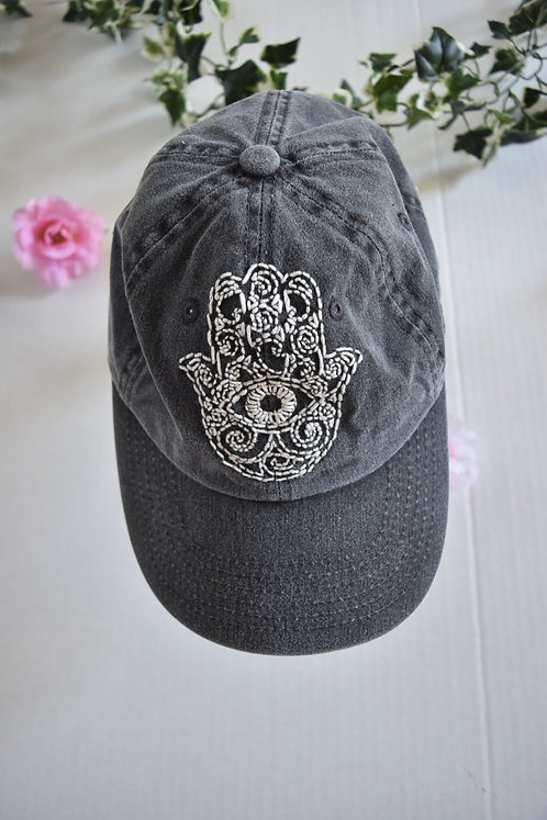 Hand Embroidered Baseball Hat