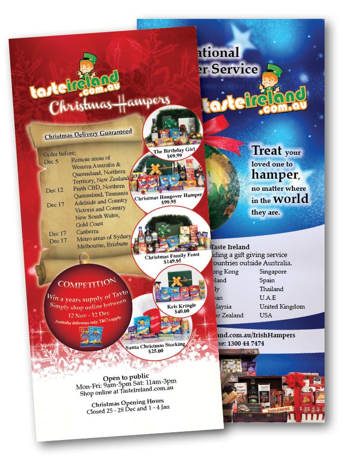 Taste Ireland DL Christmas Flyers